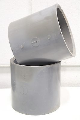 Lot 2 Nibco Coupler 8 Pvci Sch 80 Coupling Female Socket Sleeve Gray Fitting