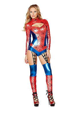 Spider Woman Costume Red Spider Girl Costume Halloween Costume Roma Romper 4489