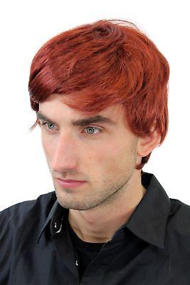 er Perücke kurz Rot Scheitel Rotschopf GFW1281-131 men wig NEU (Rote Herren-perücke)