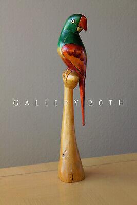 SQUAWK! MID CENTURY PARROT SCULPTURE! EAMES ERA VTG 50S WOOD BIRD ART DECO for sale  Scottsdale