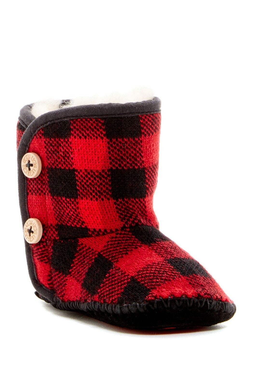 UGG Australia Red Purl Pine Button Boot for Infant Size 2-3 NIB $60