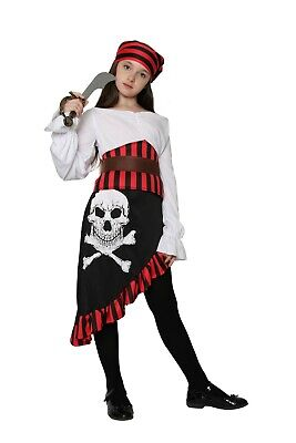 Girl Pirate Outfits (Girls Pirate Costume Kids Buccaneer Costume Captain Caribbean Fancy Dress)