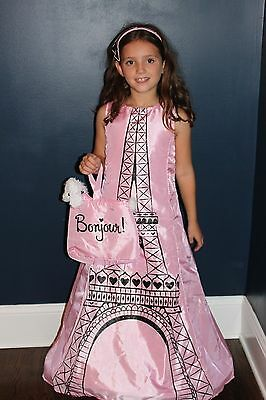 Eiffel Tower Girl's Boutique Halloween Costume French Poodle Paris MSRP $110 NEW - Paris Costume