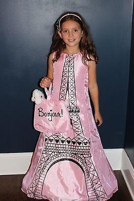 Eiffelturm Mädchen Boutique Halloween Kostüm Französisch Pudel Paris Msrp - Pariser Mädchen Kostüm