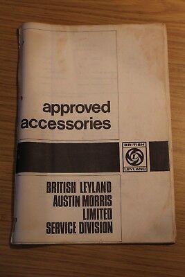 British Leyland Austin Morris Service Division Approved Accesssories Booklet