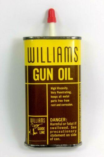 WILLIAMS Gun Oil Can Tin Gun Cleaning Tin Oil Can ( FULL & MINT CONDITION )