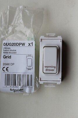 GET Schneider GUG20DPW Grid Switch Module 20AX 2 DP white marked Warming Drawer