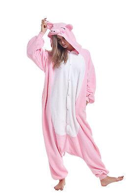 Adult Pink Onesie (Christmas Unisex Adult Animal Cosplay Costumes Kigurumi Onesie0 Pink Pig)
