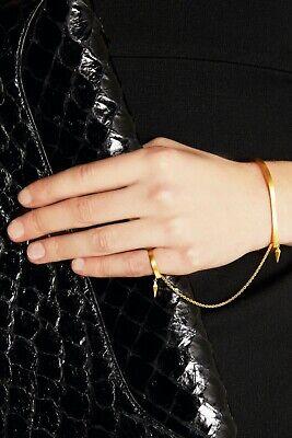 "MARIA BLACK ""Philo"" gold-plated silver finger bracelet, RRP £260"