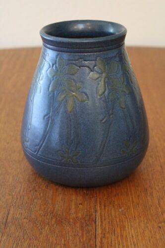Decorated Marblehead vase