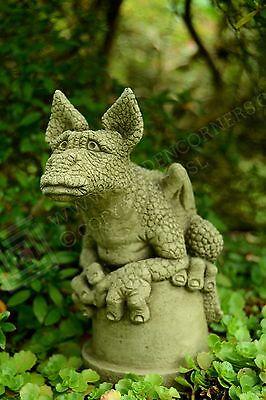 Frankie-Dragon Garden Ornament-Sculpture Stone Statue-Home Patio-Decorative Gift