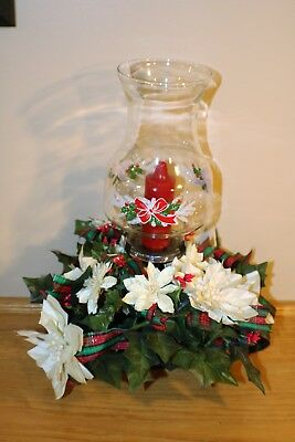 Table Top Holiday Chimney Flowers CandleHolder