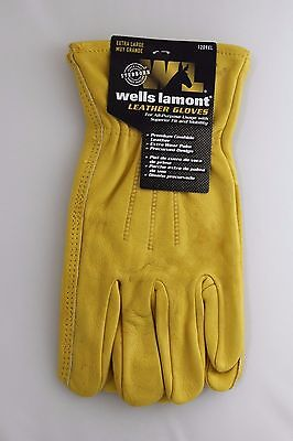 New Wells Lamont Premium Leather Work Gloves Mens Size Extra Large