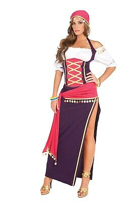Gypsy Maiden Costume (Women's Gypsy Maiden Halloween Costume Size Small by Elegant Moments)