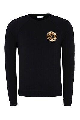 Versace Collection Men's Sweatshirt Half Medusa Logo Black - Size M