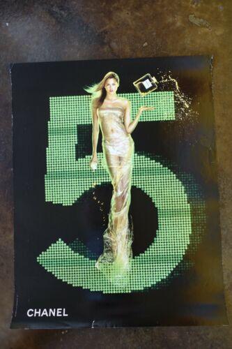 "22""x28"" Chanel 5 Estella Warren Jean-Paul Goude perfume Advertising Poster Ad"