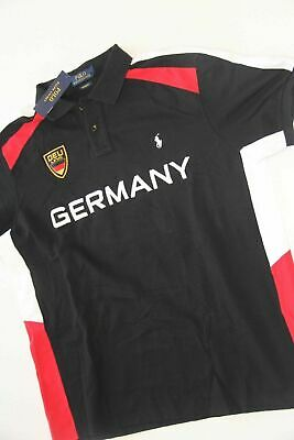 New Polo Ralph Lauren Small Pony Germany Flag  Men Shirt L Large  Custom FIT