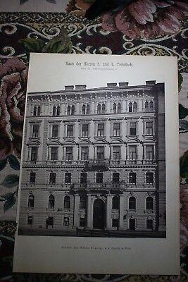 1886  4 / Wien IX Alsergrund Haus Trebitsch Schwarzspanierstraße 6 Stiassny