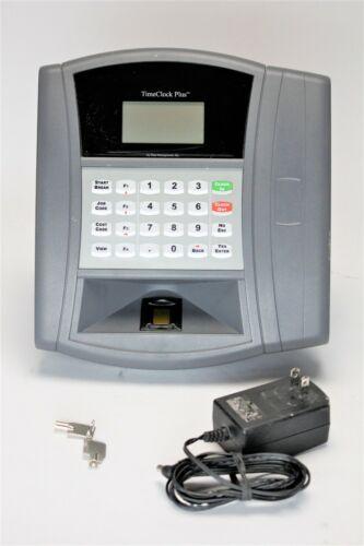 Data Management TimeClock Plus w/1 Key & Power Supply - Ethernet & Fingerprint