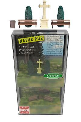 BNIB N BUSCH 8110 PARK BENCHES, BIN, TREES, & STONE CROSS for sale  Shipping to Ireland