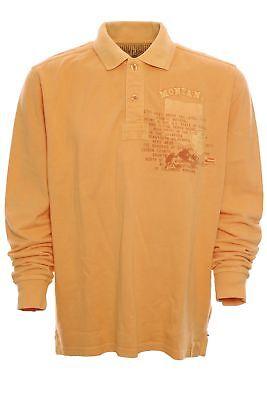 Kitaro Polo Poloshirt Shirt Herren Langarm Longsleeve Pique Größe M