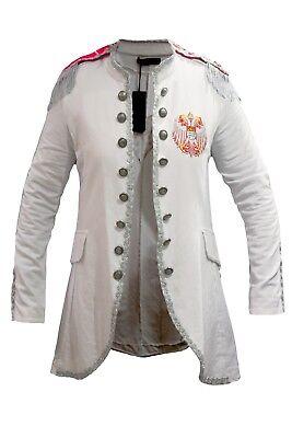 Mantel Jacket Lappen Damen  Karnevalskostüm  Fasching Weiß Alaaf