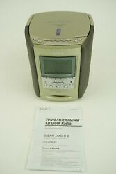 Sony Dream Machine CD Player Radio Alarm Clock ICF-CD863V TESTED AM/FM