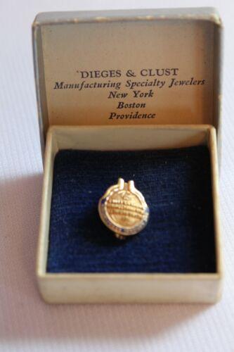 VINTAGE 14k GOLD NEGRO BUSINESS & PROFESSIONAL WOMENS CLUB PIN-BLACK AMERICANA