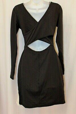 NWT Lululemon Contour Dress Nulu Black Wrap Back 6 S M
