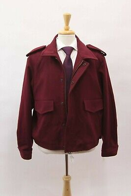 NWT $1470 E. Tautz Savile Row Men's Wool Knit Coat Size 44