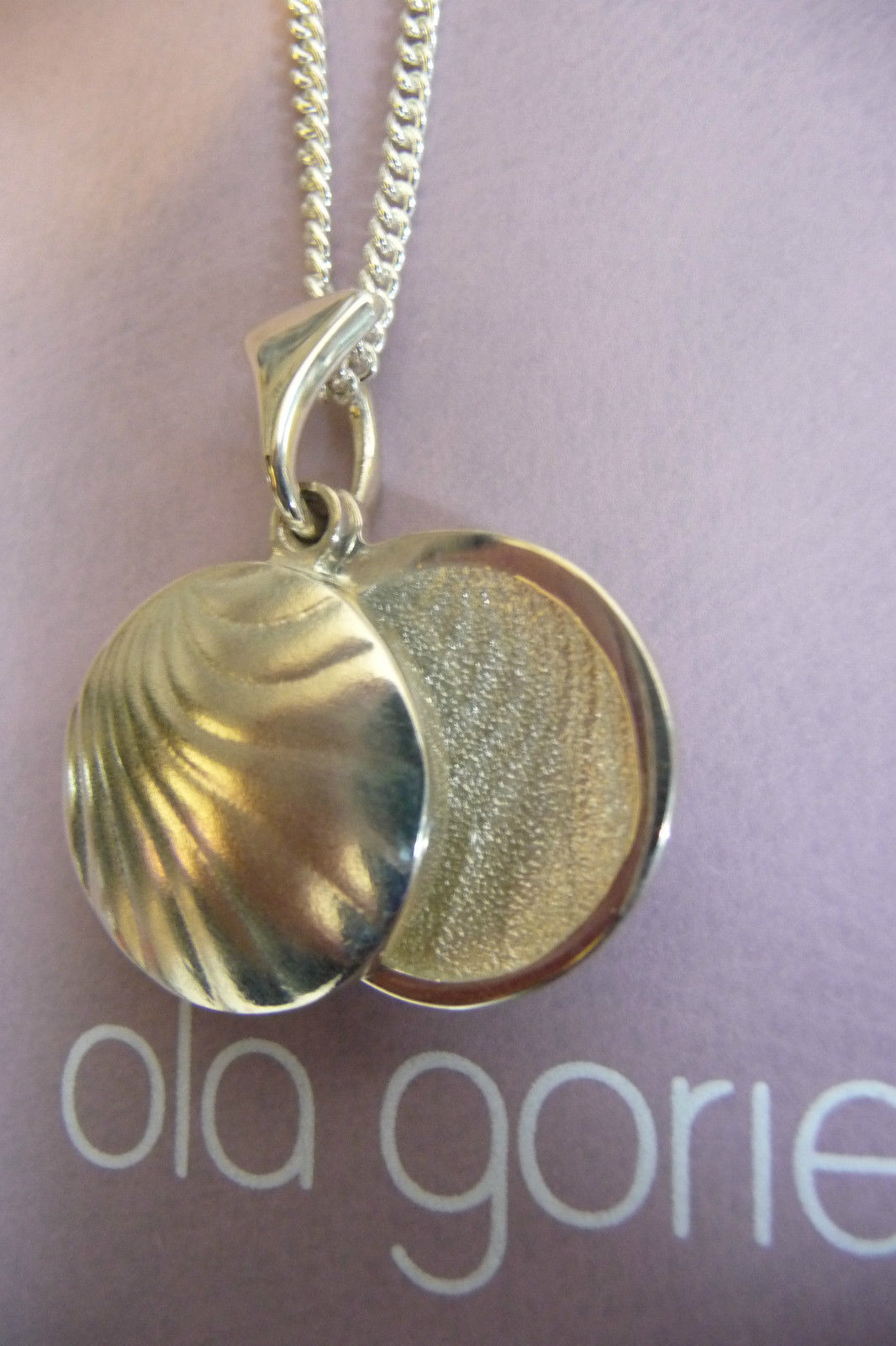 Ola Gorie Silver 9ct Drop Pendant Inspired by 1920s Bauhaus Furniture Scottish