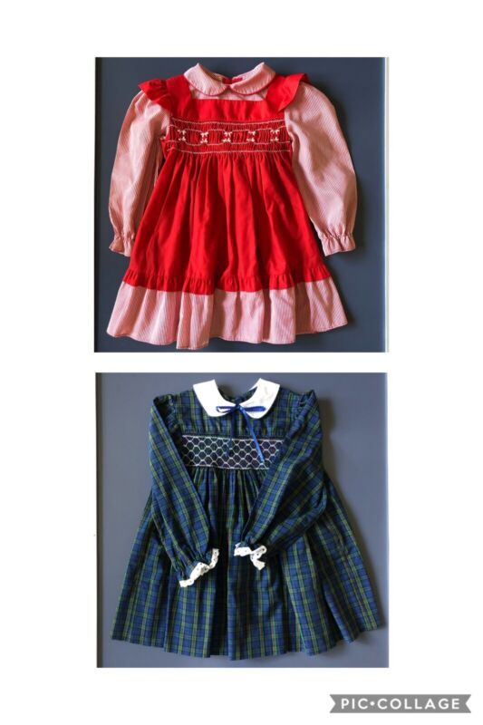Vintage Holiday Dress Lot Size 3-4T EVC