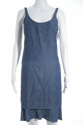 Acne Jeans Kleid (ACNE Jeanskleid stahlblau Beach-Look Damen Gr. DE 34 Kleid Dress Denim Dress)