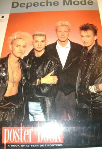 "RARE DEPECHE MODE BOOK OF 12 MINT TEAR OUT POSTER BY MICK SAINT MICHEL 12""x 17"""