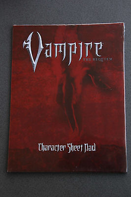 Vampire The Requiem Character Sheet Pad (RPG)