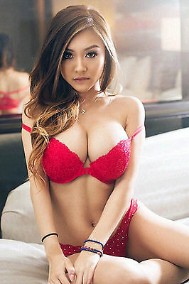 Busty asian lingerie model