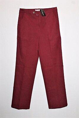 La Femme Designer Red Side Pocket Straight Leg Dress Pants Size XS BNWT #TD06 La Femme Designer