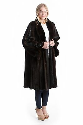 Mink Swinger with Leather Luxury Fur Coat Mink Fashion Style 42 - 44 for шуба