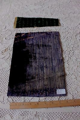2 Antique Italian Renaissance Silk Velvet Fabric Pieces c1600s~Dolls, Collectors