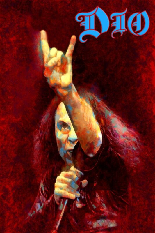 "Dio Poster Art ""We Rock"" Ronnie James Dio Large 20x30 Print Free Shipping!"