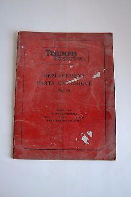 GENUINE OEM TRIUMPH TIGER CUB REPLACEMENT PARTS CATALGUE No. 10 September 1964 b