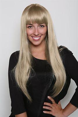 Perücke PRINZESSIN blond lang glatt fallend PONY femme - Blonde Pony Perücke