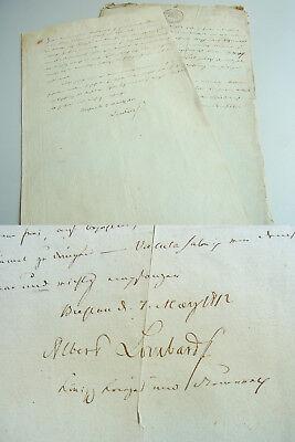 HUGENOTTEN // Wechsel BRESLAU 1812, Albert LOMBARD (1768-1814) an Kfm. Willert