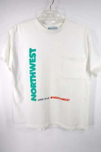 Vintage Northwest Airlines T Shirt Size M White