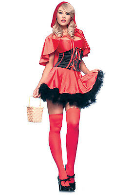 Be Wicked L/XL Red Riding Hood Sexy Halloween Bedroom Costume Red Black](Black Riding Hood Costume)