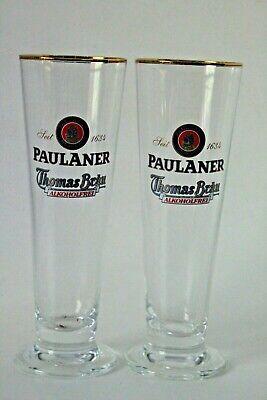Paulaner German Beer Glass .2L Arena Stange Ritzenhoff Cristal Set 2 Pilsner