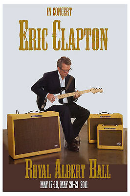 Eric Clapton at  Royale Albert Hall UK Concert Poster 2011
