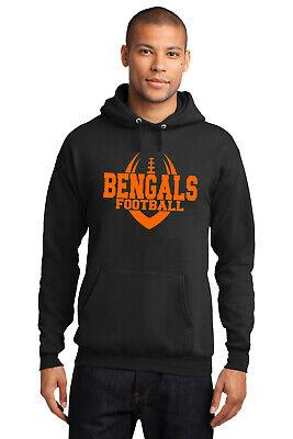 New Bengals Hoodie Black and Orange Adult / Youth Cincinnati Hooded Sweatshirt Black Cincinnati Bengals Sweatshirt