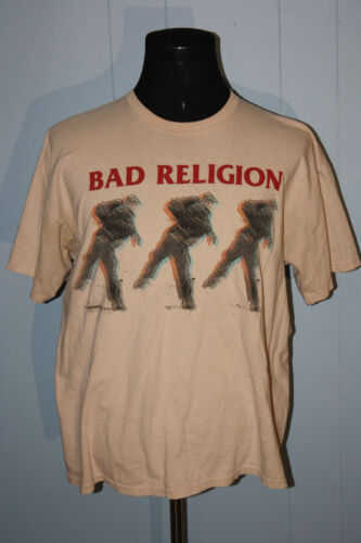 Bad Religion Punk Rock Band The Dissent of Man Pullover Tee Shirt XL