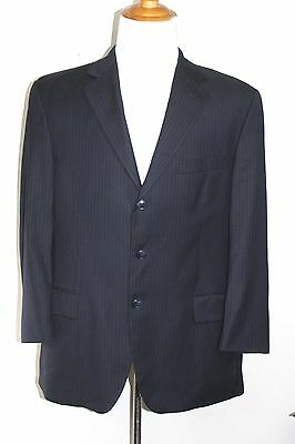 Loro Piana Von Maur Navy Wool Striped Blazer Sport Coat Jacket Mens Euc 42R